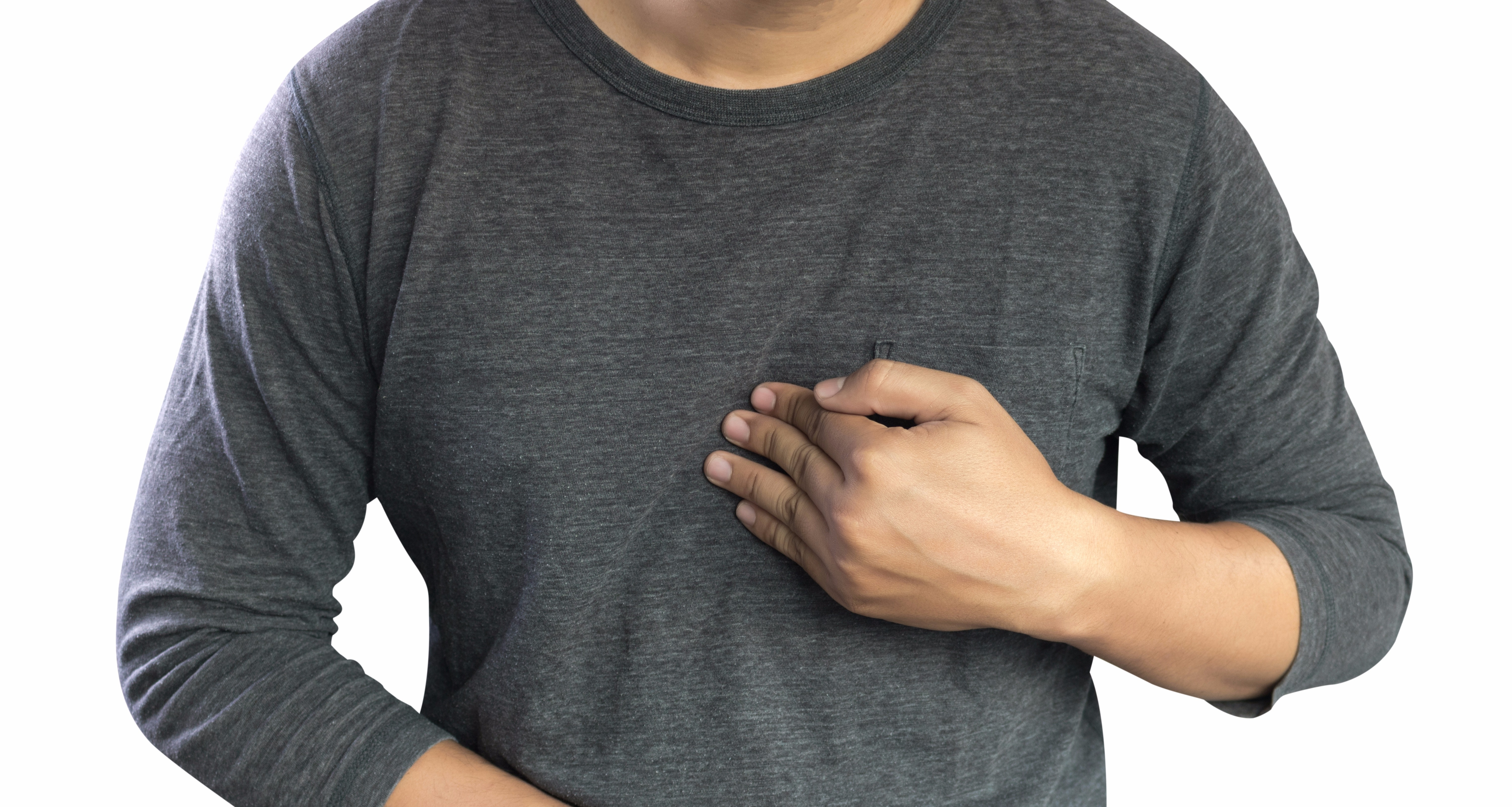 An image depicting a person suffering from acid reflux disease (gerd) symptoms