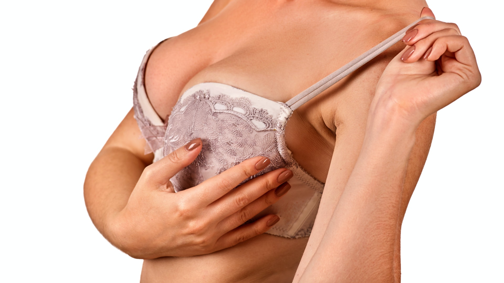 An image depicting a person suffering from breast swelling symptoms