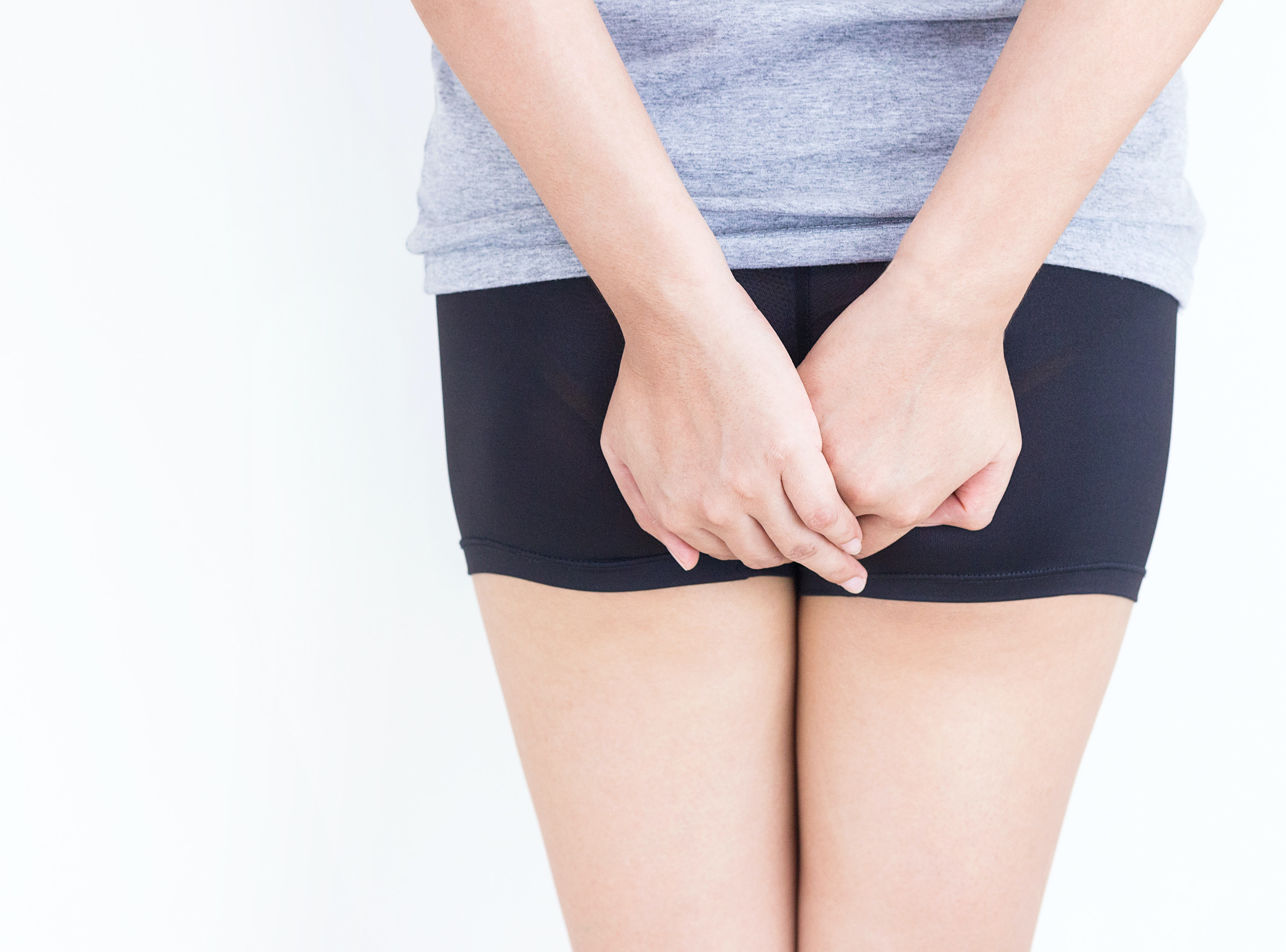 An image depicting a person suffering from butt bump symptoms