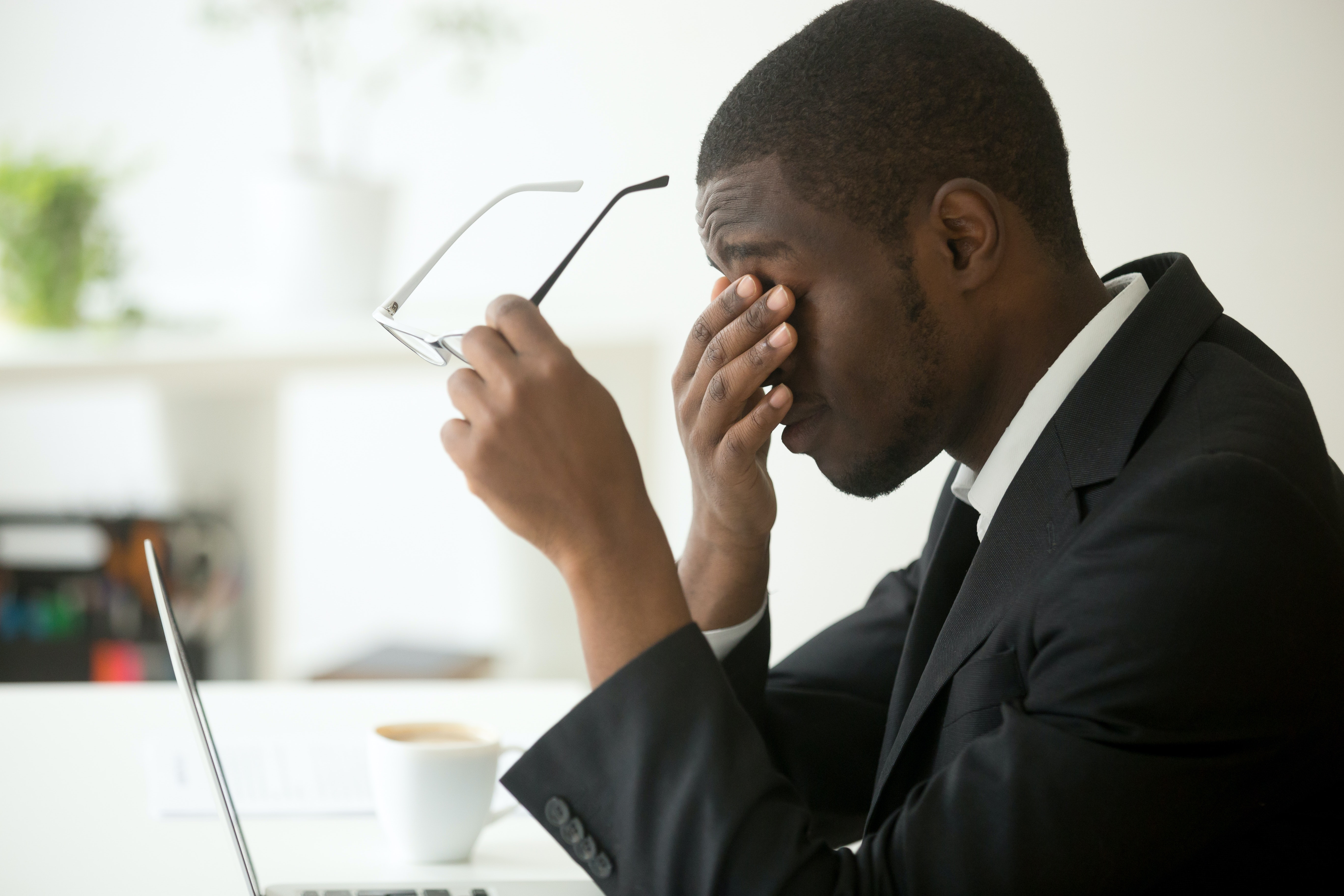 An image depicting a person suffering from chronic fatigue syndrome symptoms