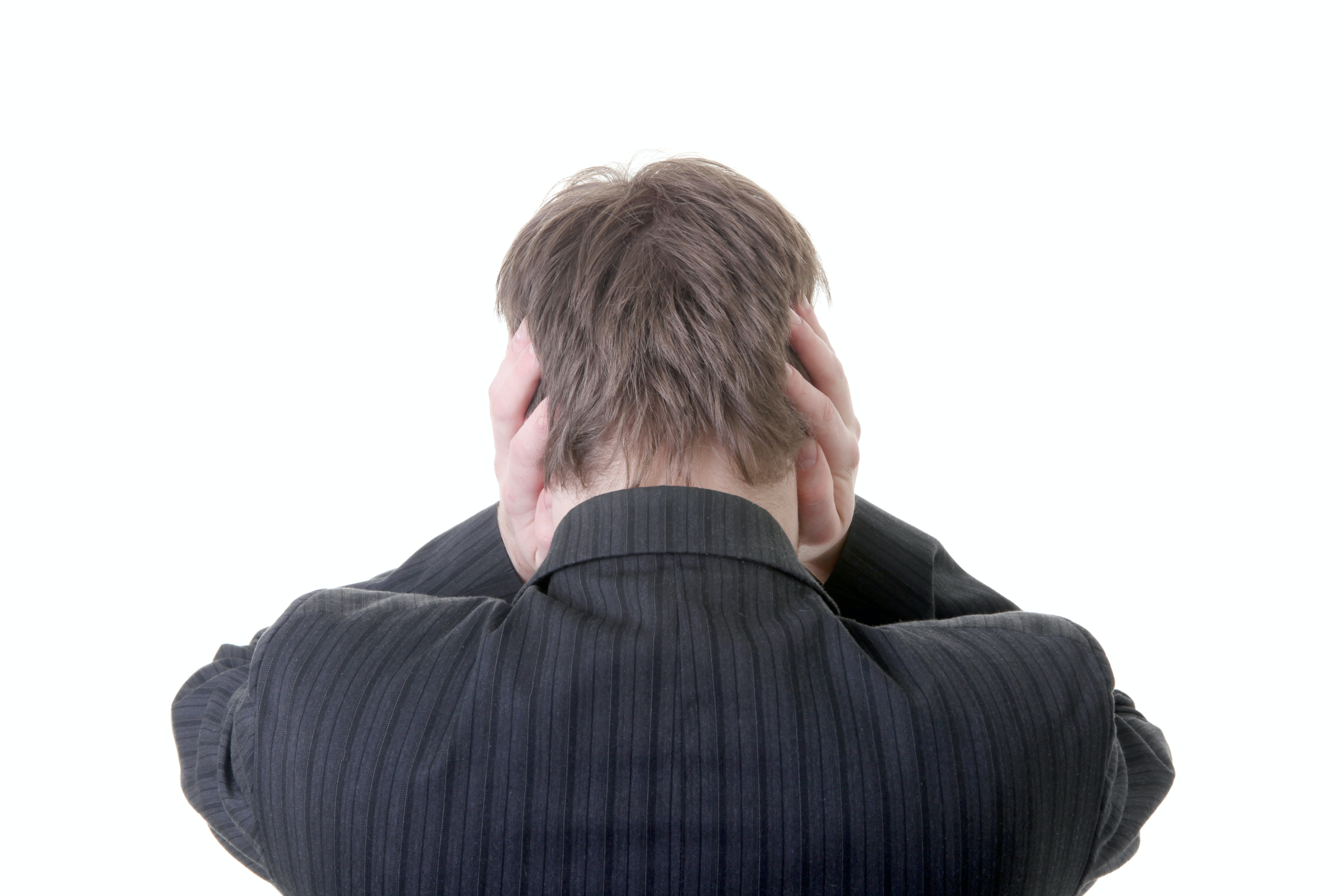 An image depicting a person suffering from heartbeat sound in the ear symptoms