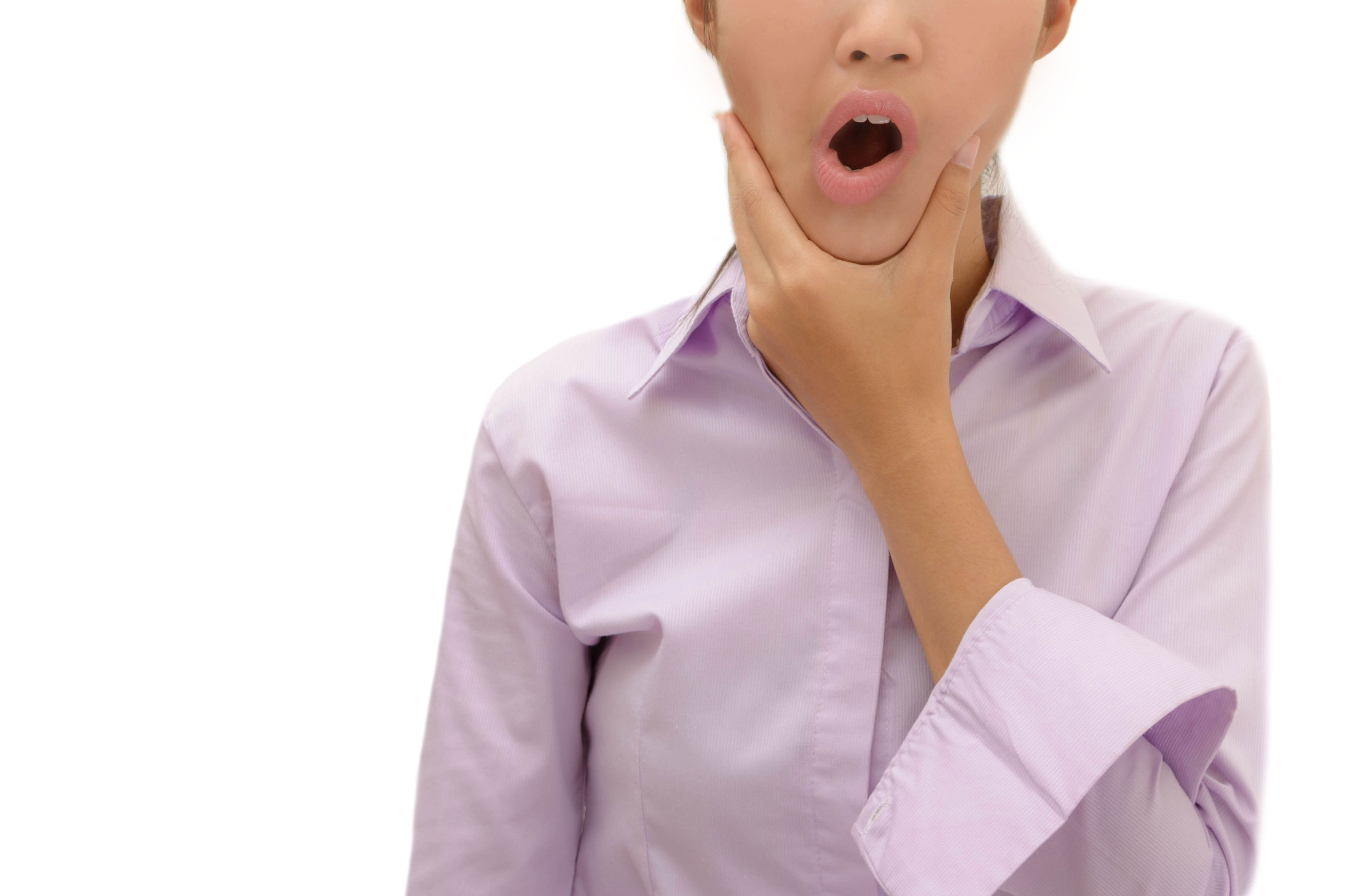 An image depicting a person suffering from jaw clicking symptoms