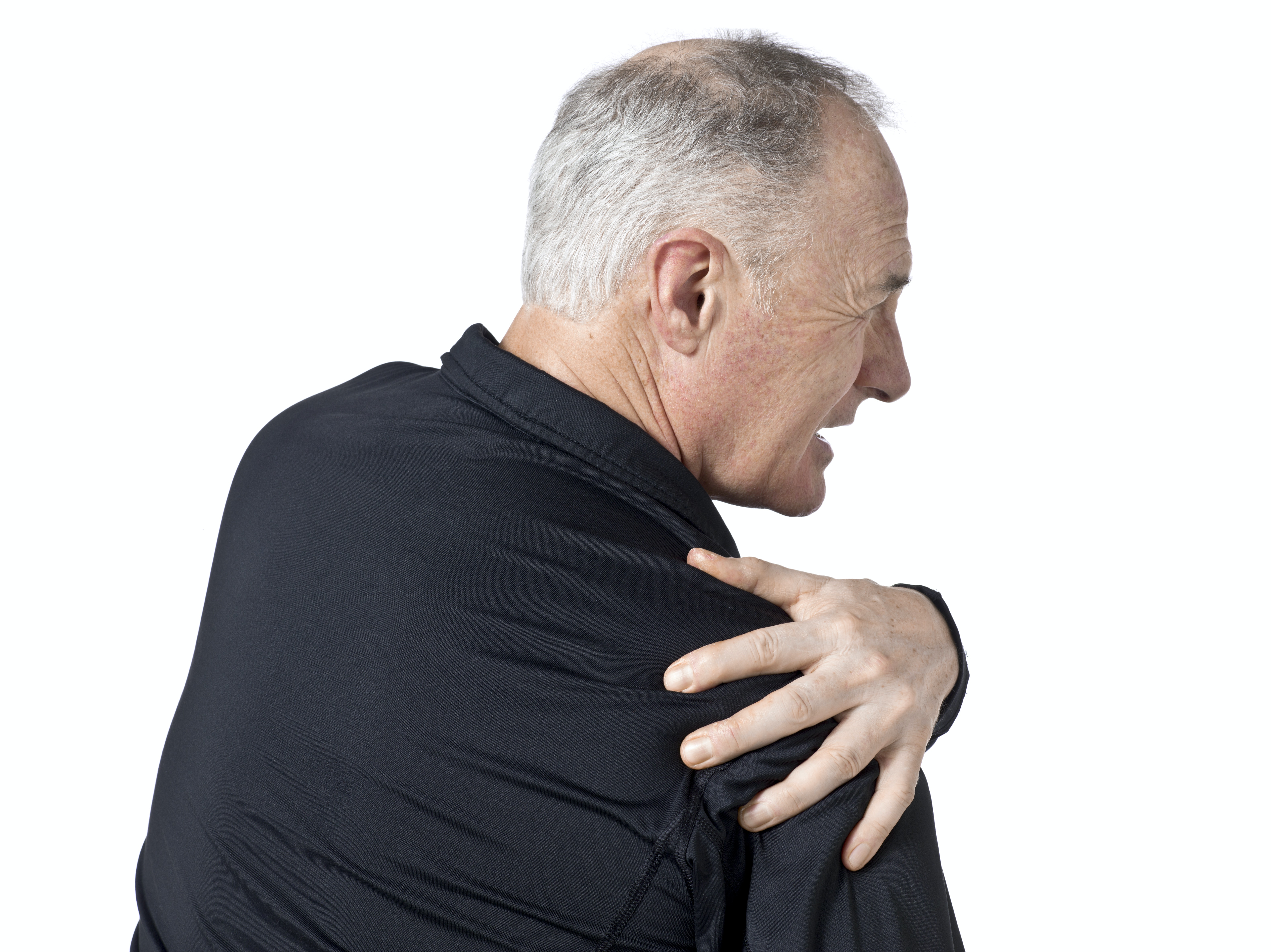 An image depicting a person suffering from Shoulder Arthritis symptoms