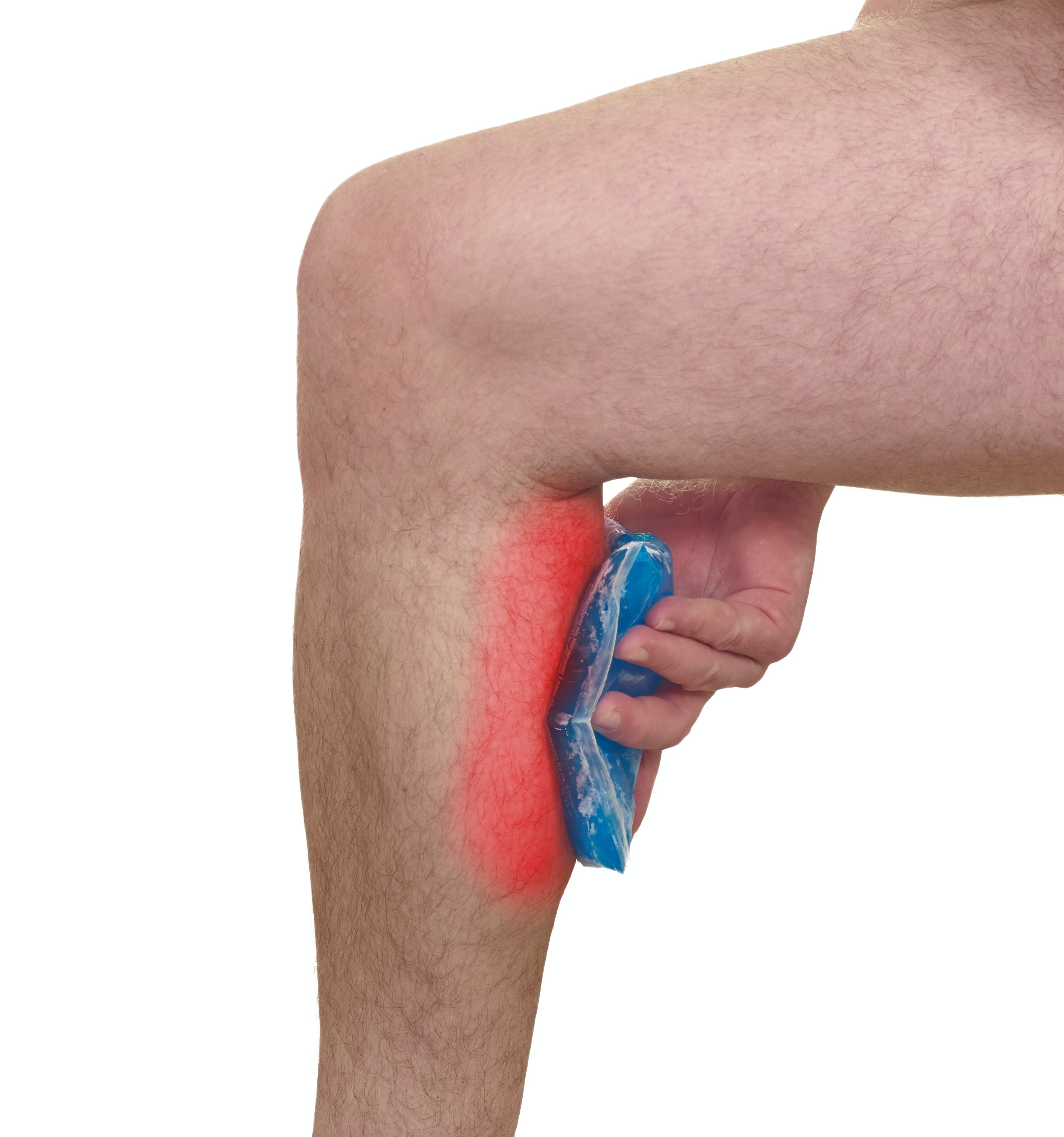 An image depicting a person suffering from swollen calves symptoms