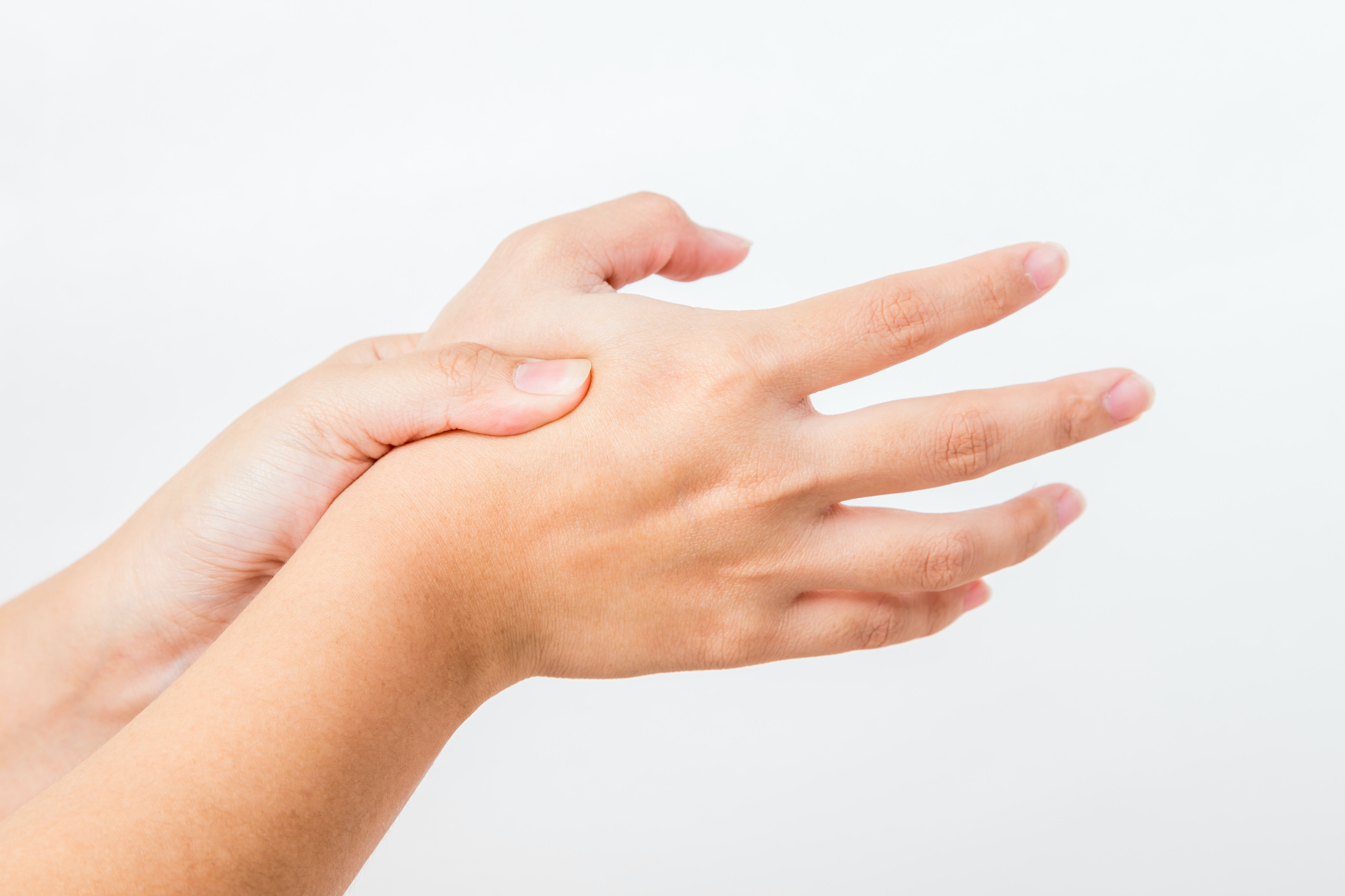 An image depicting a person suffering from Thumb Arthritis symptoms