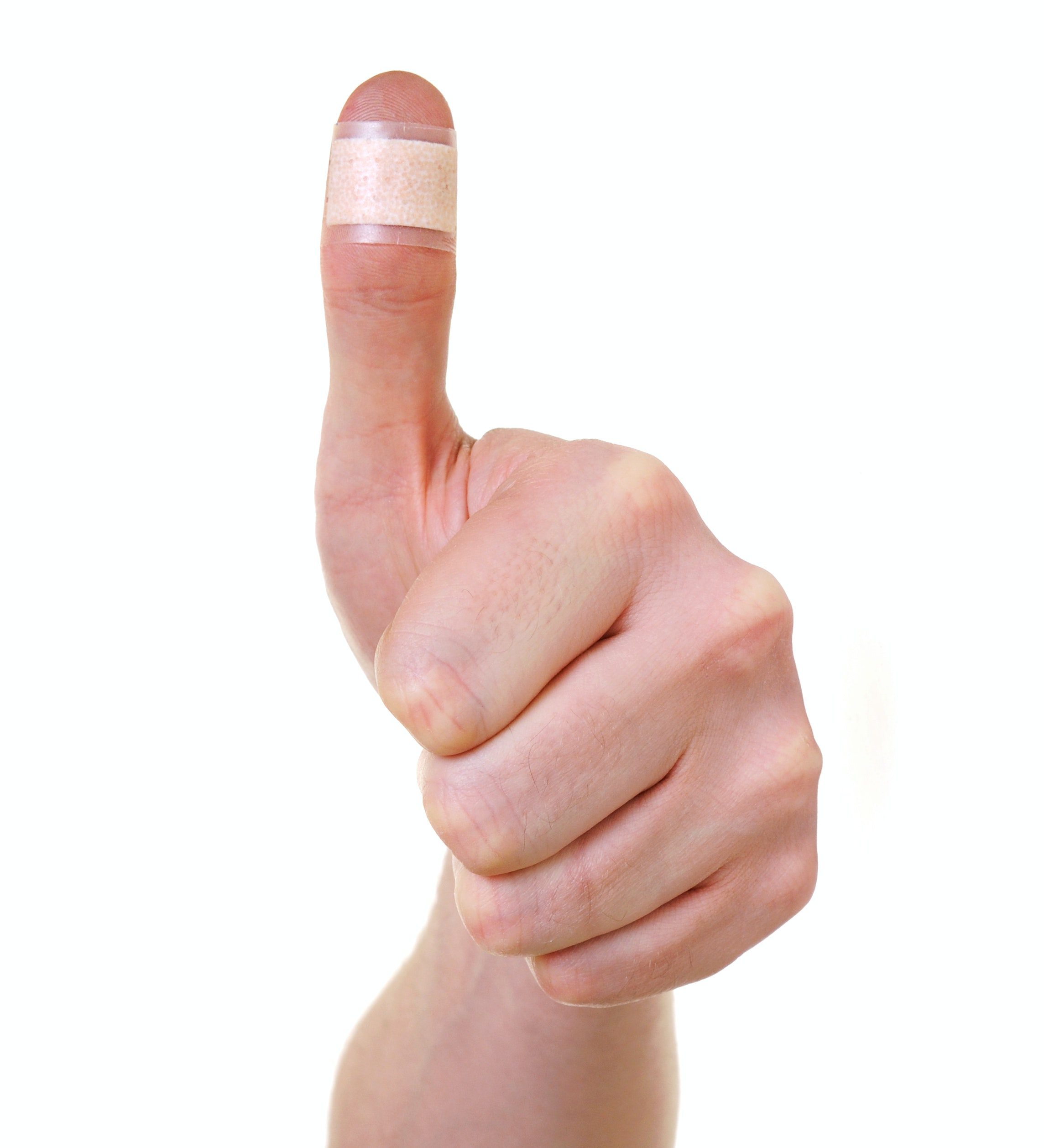 An image depicting a person suffering from thumb pain near the fingernail symptoms