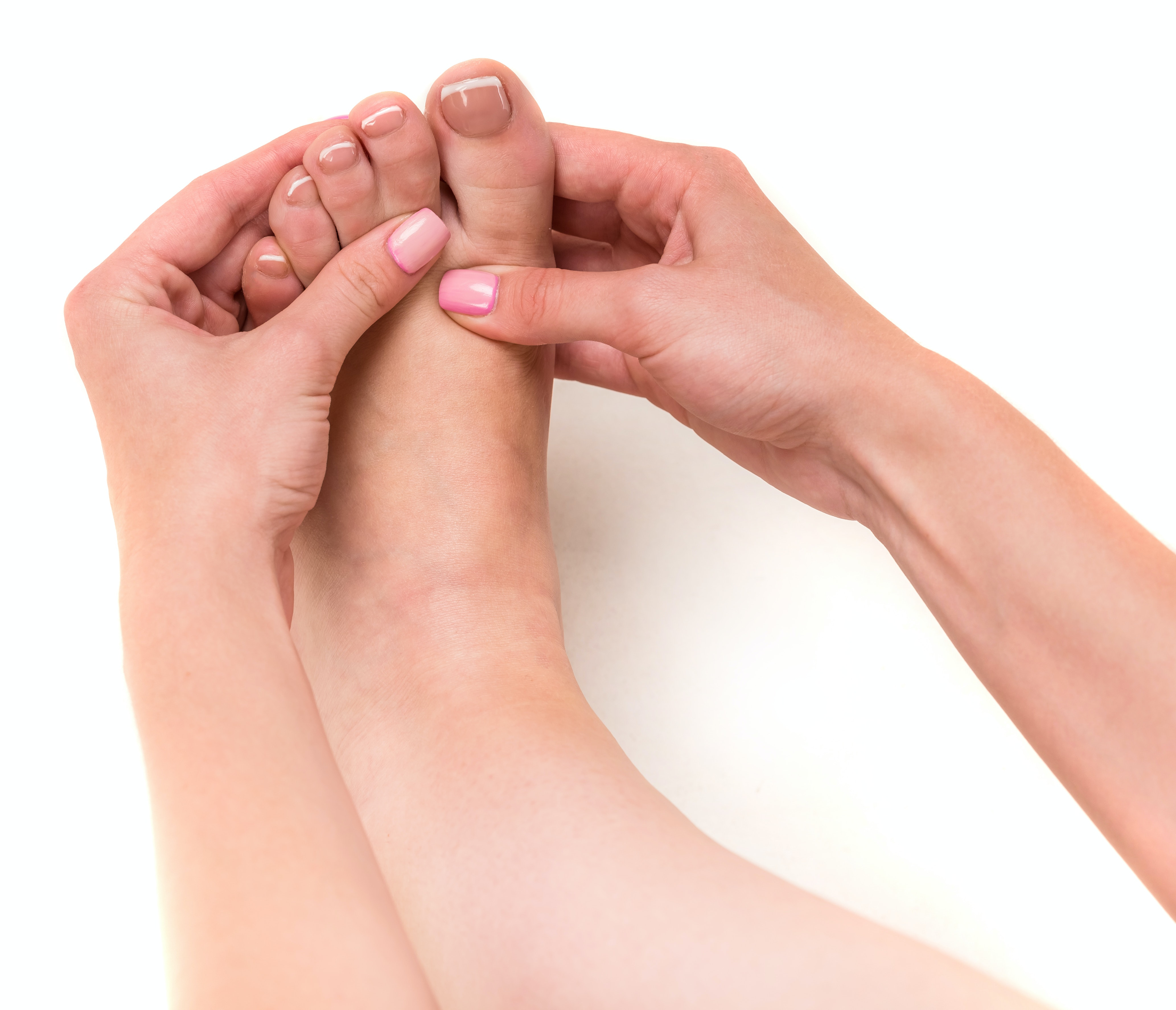 An image depicting a person suffering from toe pain symptoms