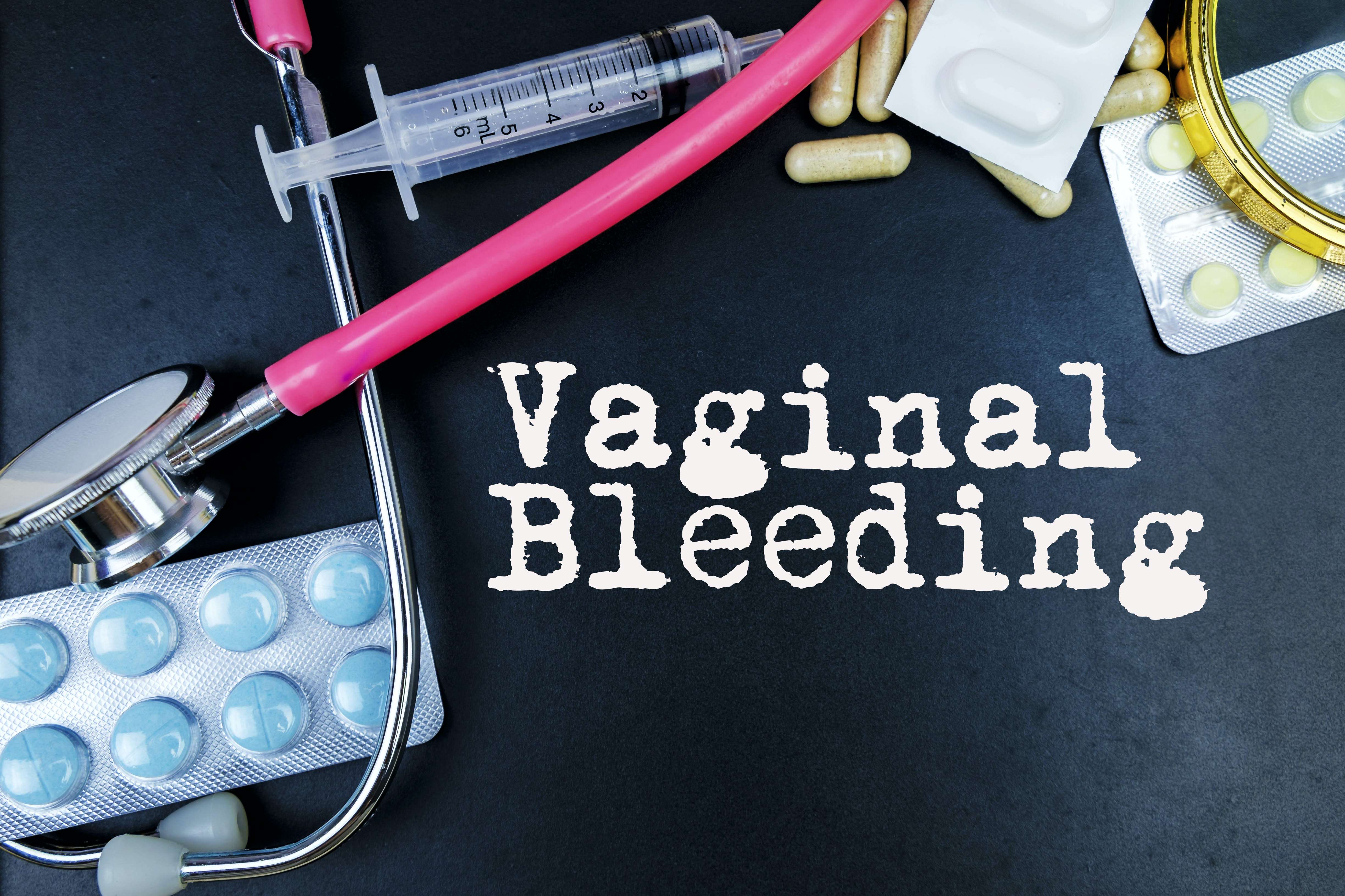 An image depicting a person suffering from vaginal bleeding symptoms